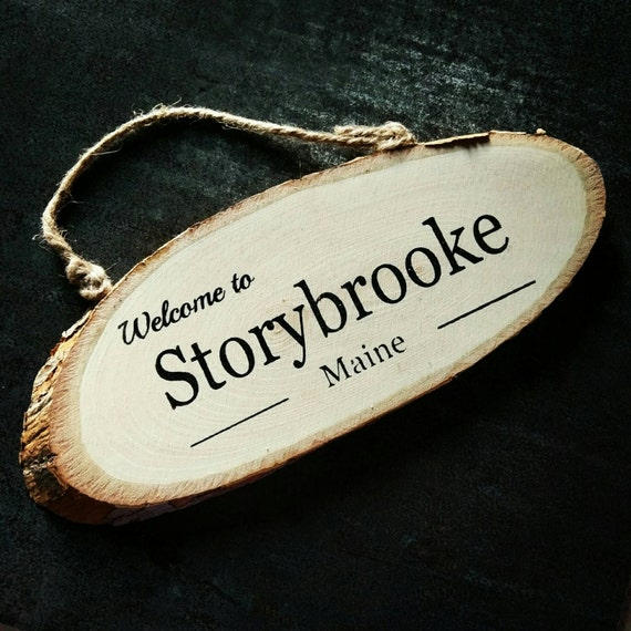 Welcome To Storybrooke Once Upon a Time Hand Painted Sign
