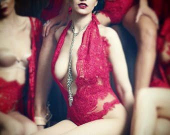 Irina Shabayeva lace body suit