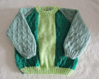 Baby Jumper Unique Hand Knitted 20 Inch 6-9 Months