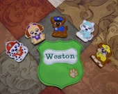 Puppy Heros Finger Puppet Set #1 - FREE SHIPPING