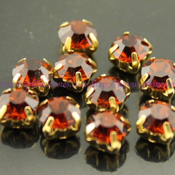 sew on rhinestones smoke topaz brown gold setting claw 4mm 5mm 6mm 7mm 8mm from qrhinestones. Black Bedroom Furniture Sets. Home Design Ideas
