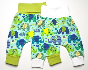 Set for twins 2 baby-pants 50/56 newborn elephant