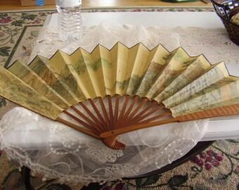 Vintage Oriental Hand FAN