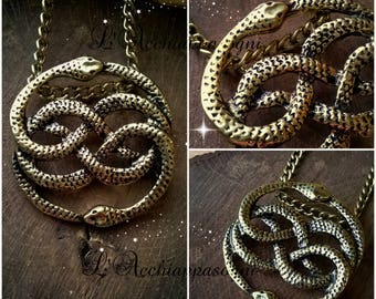 Auryn Necklace - Neverending Story Inspired necklace - neverending story necklace - Atreyu - Double Snake - Atreiu - Neverending Story 80'