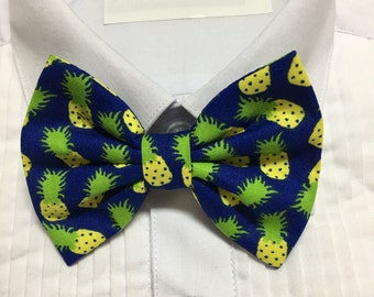 Funky Pineapple Bowtie / Bow Tie or Hair Bow