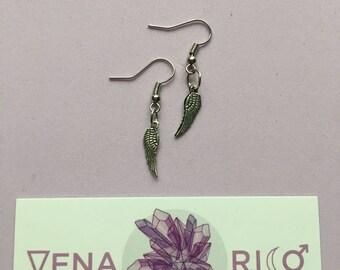 Tiny Wing Earrings - Silver, Angel, Fairy, Wings