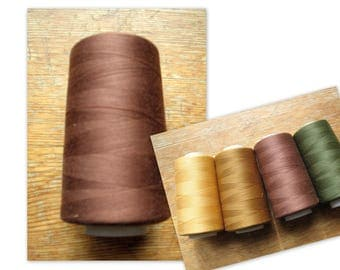 Sewing Thread Brown 5000 yards Polyester Sewing Overlock Serger Cone Thread
