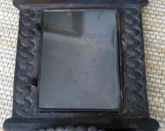 Mexican Metal Shadowbox with little Shelf, ready to hang