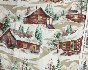 Snowflake Summit fabric - BTY
