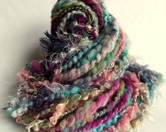 HOTCH POTCH YARN - Chunky wool, knitting or crochet yarn / wool, multicolored yarn, art yarn, merino, alpaca, bfl, and romney