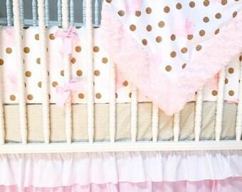 Floral Crib Set,Crib bedding, baby bedding, baby girl bedding, girl crib bedding, girl crib set,floral baby bedding, custom crib bedding,