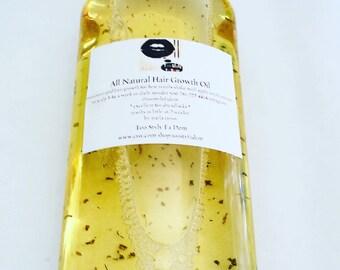 all natural hair growth oil 8oz  bottle