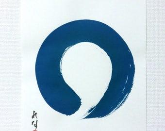 Zen Art Japanese Art Original Abstract Painting Abstract Art Enso Zen Circle Minimalist Art Modern Art Zen Wall Art Japanese Calligraphy