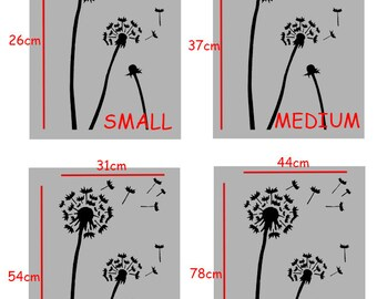 Dandelion stencil, wall stencil, furniture, wall, fabric stencil, painting , floral stencil, SEE IMAGES for SIZES