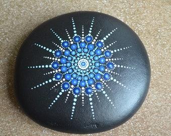 Painted Mandala Stone