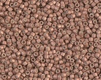 11/0 Miyuki Delica Seed Beads DB1166 - Galvanized Matte Pink Blush Delica 1166 - 6 Grams - ...