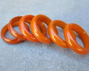 Bakelite napkin rings England butterscotch antique Art Deco French apartment NYC decor