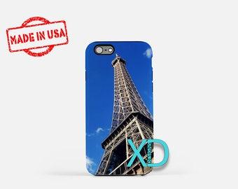 Eiffel Tower iPhone Case, Paris iPhone Case, France iPhone 8 Case, Blue Sky, iPhone 6s Case, iPhone 7 Case, Phone Case, Safe Case, SE Case