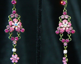 Pink Accents Dangly Earrings