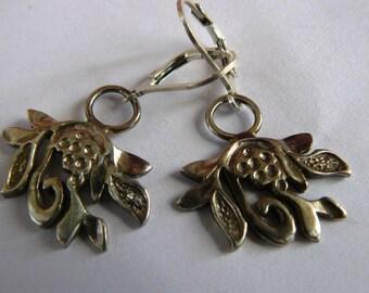 Earrings - Sterling Silver – 925 - Nature Inspired – Fantasy - Fern Flower