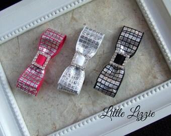 Trio of hair clips, Disco hair clips, girl gift, party hair clips, bow hair clips