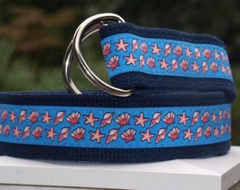Sea Shell Belt / Shell Belt for  YOUNGER BOYS / Starfish Belt / Preppy Belt /
