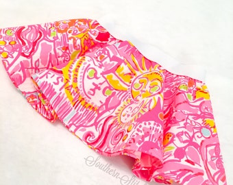 """Circle Skirt in Lilly Pulitzer Fabric """"Kinis in the Keys"""""""