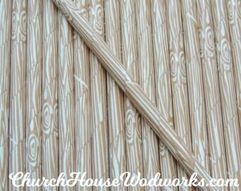 Wood Grain Tree Bark Paper Straws:  Drinking Paper Straws,  Birthday Party Straws,  Rustic Wedding Paper Straws