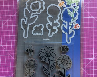 Hero Arts/Sizzix Cling Stamp and Die-Cut Set, Hero Arts No. 657852.