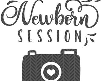I rocked my Newborn session, with camera,  Photographer client gift, SVG file