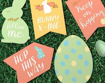 Easter Egg Hunt Party Sign Printables - INSTANT DOWNLOAD
