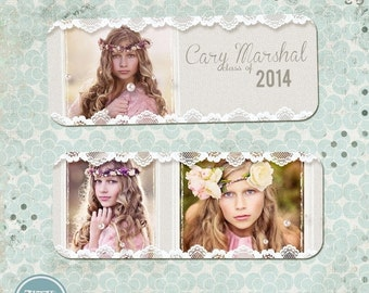 ON SALE Senior Rep Card - Photoshop Templates vol.2 - INSTANT Download
