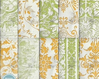 ON SALE Scrapbook Papers and Digital Paper Pack , Blog Background  vol.114