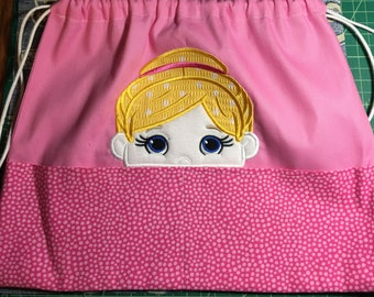 Ballerina drawstring bag