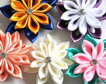 Kanzashi Tutorial, Ribbon flower, PDF, Tsumami Kanzashi, Pointed Kanzashi, Flower Making, How to Make Flowers, Immediate Download, Petals