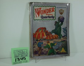 Summer 1930-Wonder Stories Quarterly Pulp Magazine