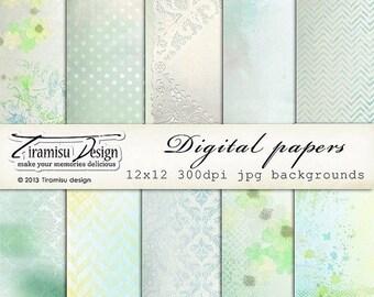 ON SALE Digital Scrapbooking Vintage Papers Pack 12