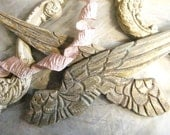 Wooden Angel Wings, Shabby Chic, French White, Cottage Chic, Nursery Decor, Architectural Salvage