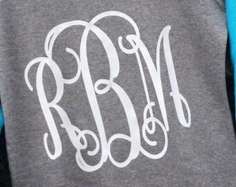 Monogrammed Sweatshirt  Hi-lo Crew