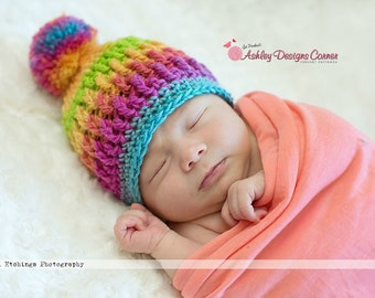Crochet Pattern Ashley Beanie - PDF - Instant Digital Download (Newborn - Adult)