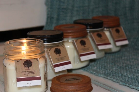 Buy 3 Get 1 Free 100% Soy 8 oz Candle Pick your Scent Christmas scents