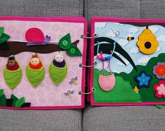 Elfjesboek Quiet book 2 pagina's elfenbabies PATTERN & TUTORIAL