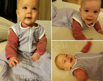 Lightweight Muslin Baby/Toddler Sleepsack - S, M, L (12lbs to 33lbs)