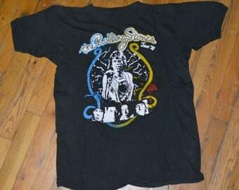 1978 ROLLING STONES vintage concert tour rare original rock t-shirt Medium/Large (M/L) 70s 1970s Mick Jagger Keith Richards tshirt tee