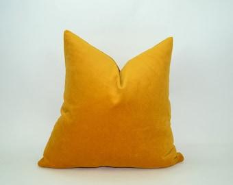 ochre velvet pillow case // ochre cushion // ochre pillow cover