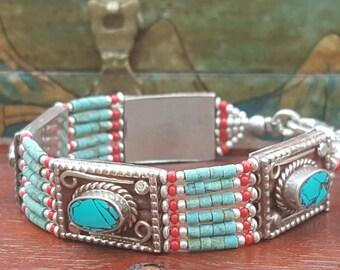 Tibetan Turquoise Relic Beaded Bracelet