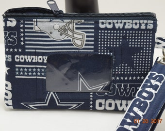 Clutch | ID wristlet | ID Clutch | Cellphone Clutch | Cell Phone Wallet | Credit Card Wallet | Coin Purse | NFL Cowboys