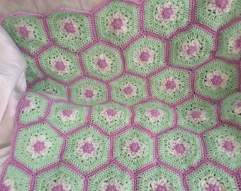 Hand crochet baby blanket
