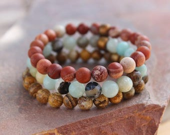 Chakra Stack Bracelets Earth Wind and Fire
