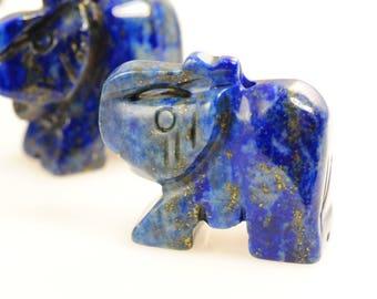 Elephant Bead-Lapis Lazuli Elephant Bead-Carved Elephant Bead-Lapis Elephant-Elephant Focal-Gemstone Elephant-Lapis Lazuli Bead-Lapis